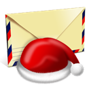 envelop, Email, Letter, santa, Message, mail PaleGoldenrod icon