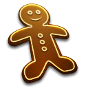 Human, gingerbread, Man, profile, male, person, user, Account, people, member Black icon
