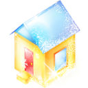 xmas, house, Home, Building Khaki icon