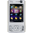 mobile phone, Nokia, nokia n95, Handheld, N series, smartphone, Cell phone, smart phone Black icon