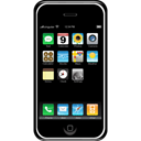 Tel, Apple, smartphone, Mobile, Cell phone, Handheld, telephone, smart phone, Iphone, ipod, mobile phone, phone Black icon