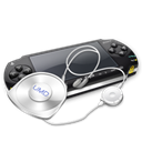 psp, umd, Headphone, Headset Black icon
