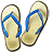 Jandals DarkSlateGray icon