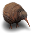 Kiwi, flightless, bird, Animal Black icon