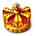 my computer, crown, my, Computer, king Maroon icon