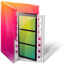 Folder, video, Aurora, movie, film Black icon