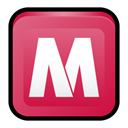 Mcafee, security, Center IndianRed icon