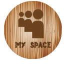 space, Myspace Gray icon
