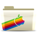 Apple, Folder Black icon