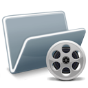 movie, video, Canister, film Black icon