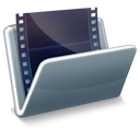 video, film, movie DarkSlateGray icon