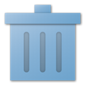 Trash, Blue, recycle bin SkyBlue icon