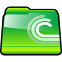 Downloads, bittorent, Folder LimeGreen icon