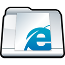 Folder, internet, Explorer, bookmark WhiteSmoke icon