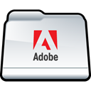adobe, Folder WhiteSmoke icon