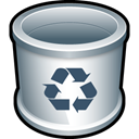 recycle bin, Folder, Trash, Blank, Empty Black icon