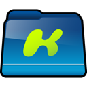 kazaa, Folder, Downloads DarkCyan icon