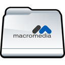 macromedia, Folder WhiteSmoke icon