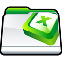Folder, microsoft, Excel Black icon