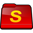 Folder, Shareaza, Downloads Red icon