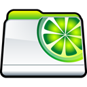 Downloads, Limewire, Folder Black icon