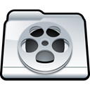 Folder, video, my video Black icon