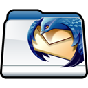 Thunderbird, Folder, mozilla Black icon