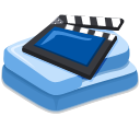 video, film, movie SteelBlue icon