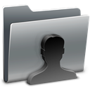 profile, people, Account, user, Folder, Human Gray icon