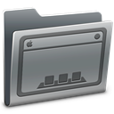 Folder, Desktop Gray icon
