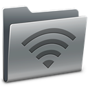 Folder, Broadcast Gray icon