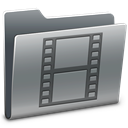 film, movie, video, Folder Gray icon