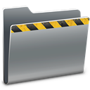 Folder, Caution Gray icon