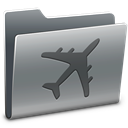 Folder, travel Gray icon