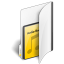 Audio, read, Folder, Book, reading Black icon
