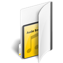 audiobooks, Folder Black icon