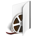 Folder, video Black icon