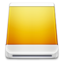 Removable, Device, drive Goldenrod icon