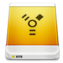 Firewire, External, drive, Device Goldenrod icon