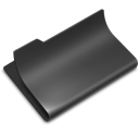 Black, open DarkSlateGray icon