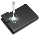 Laser, Black DarkSlateGray icon