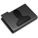 profile, people, Account, Black, user, Human DarkSlateGray icon