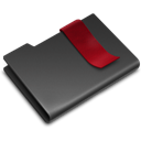 Black, bookmark DarkSlateGray icon