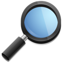 Find, magnifying glass, search, seek Black icon