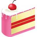 cake, food PaleVioletRed icon