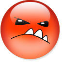 to sulk, sulk OrangeRed icon