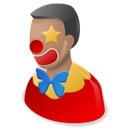 Clown Black icon