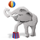 elephant Black icon