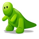 dino, green, Cartoon Black icon