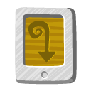 paper, Desert, tail, File, document DarkGoldenrod icon